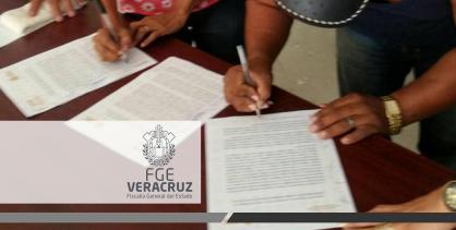 Asegura FGE reparación de daños a víctima, en Playa Vicente, mediante acuerdo de mecanismo alternativo