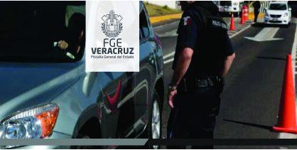 Detiene Policía Ministerial a sujeto por sustracción y posesión de vehículo robado, en Veracruz