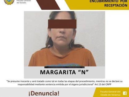 """Margarita """"N"""" detenida por robo específico en el sur"""
