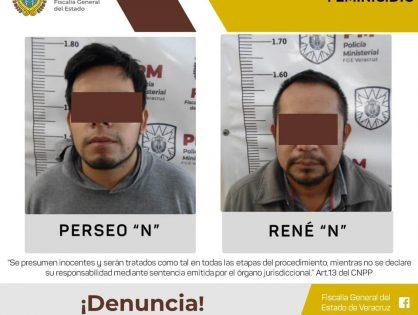 Procede Fiscalía Especializada contra dos presuntos feminicidas en Xalapa
