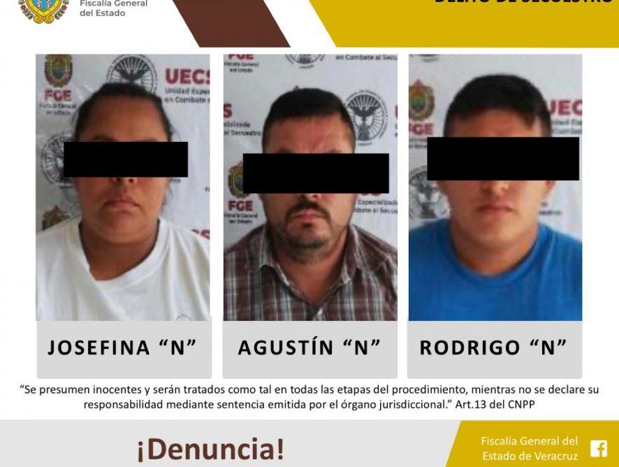 FGE logra vinculación de 3 probables secuestradores