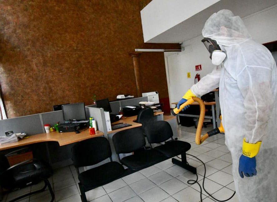 Inicia FGE jornada de sanitización y desinfección en áreas de trabajo