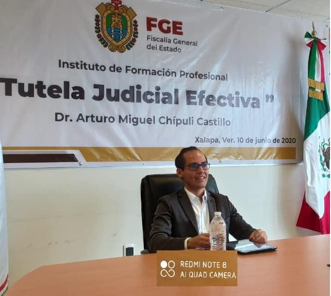 "Imparte FGE curso ""Tutela judicial efectiva"""
