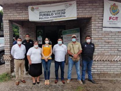 Recorrido por las oficinas del organismo en el municipio de Pueblo Viejo