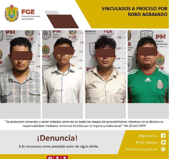 Obtiene FGE cuatro vinculaciones a proceso por robo agravado