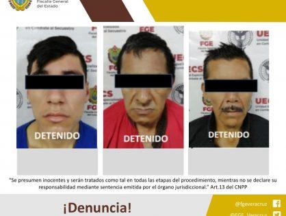 Rescata UECS a víctima de secuestro y detiene a tres probables responsables