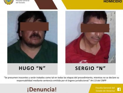 Fiscalía Regional de Tuxpan consigue vinculación a proceso contra dos personas