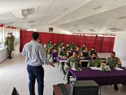 FGE brinda capacitación a elementos del Ejército Nacional