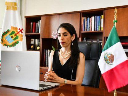 Participa Verónica Hernández en reunión virtual con Secretaria de Gobernación Olga Sánchez Cordero