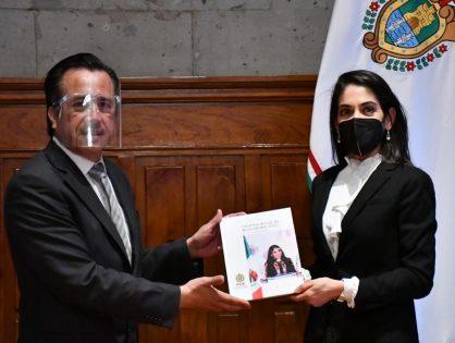 Presenta Fiscal General Verónica Hernández Informe Anual de Actividades 2020 a los Poderes Ejecutivo y Legislativo
