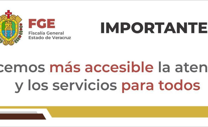 Informa FGE cambio de domicilio de diversas oficinas de atención en Xalapa