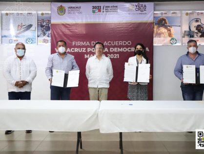 """Firma """"Acuerdo Veracruz por la Democracia 2021"""""""