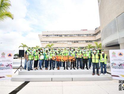 Encabeza Fiscal General simulacro Nacional 2021 en oficinas centrales de la FGE